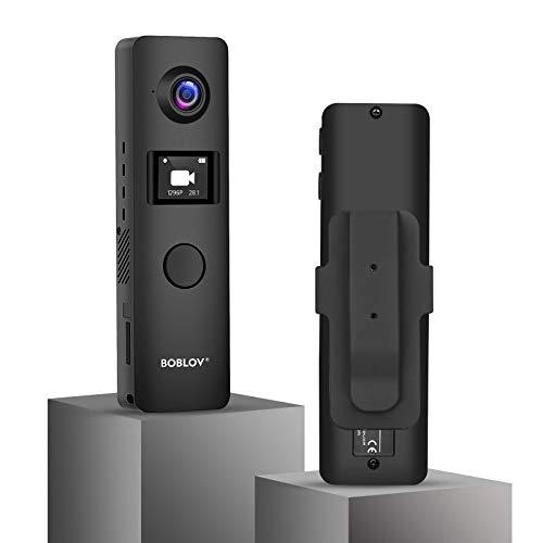 BOBLOV C19 Cámara de cuerpo pequeño 1080P Mini cámara de cuerpo memoria externa compatible con pantallas OLED 4 horas de grabación para enseñanza/conferencia/viaje (sin WiFi, tarjeta no inclui