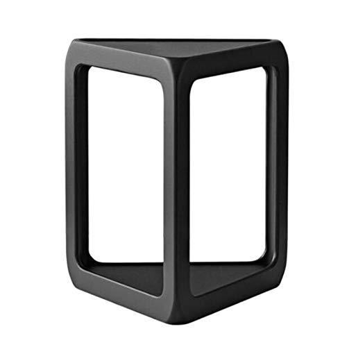 Jcnfa-Mesas Mesa Auxiliar Italiana De Triángulo De Roble Negro, Diseño De Esquina Redondeada, Mesa De Snack De Sofá (Color : Black, Size : 18.11 * 20.47 * 15.74in)
