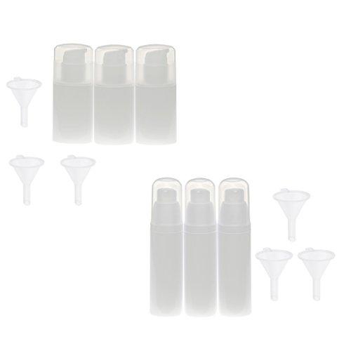 perfeclan 6pcs Vide En Plastique Pompe De Lotion Pompe Spray Bouteille Contenant De La Crème 30 Entonnoirs Entonnoirs