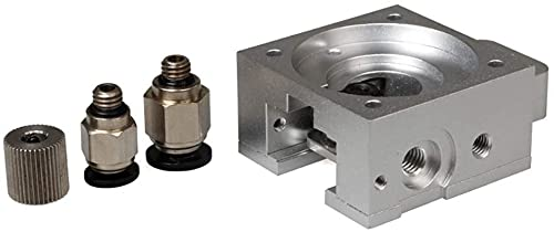Para impresora 3D Kit de extrusora Extrusora de aleación de aluminio 3D J-head MK8 Bulldog Kit de extrusora universal Acoplador de engranaje impulsor Piezas de impresora (tamaño: Engranaje impulsor de