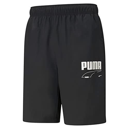 PUMHB|#Puma Rebel Woven Shorts 9`, Pantaloncini Uomo, Puma Black, XL