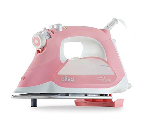 Oliso Pro TG1600 Smart Iron with iTouch Technology, 1800 Watts (Pink)