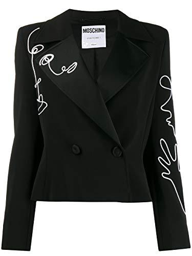 Moschino Luxury Fashion Damen J050504242555 Schwarz Polyester Blazer   Frühling Sommer 20