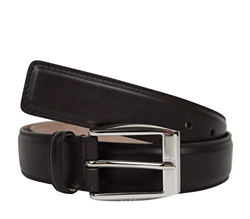 New Gucci Men's Classic Dark Brown Leather Belt With Square Buckle 336831 2140 (110/44)