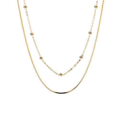 S925 Joyería de plata esterlina Collar de temperamento moldeado Personalidad Cadena de suéter ajustable