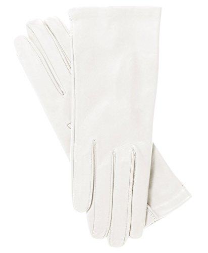Fratelli Orsini Women's Italian Silk Lined Leather Gloves Size 8 Color 4-White