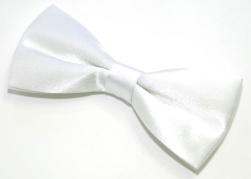 Nœud papillon pré-noué Largeur 11,5 cm Coloris au choix - Blanc - Taille Unique