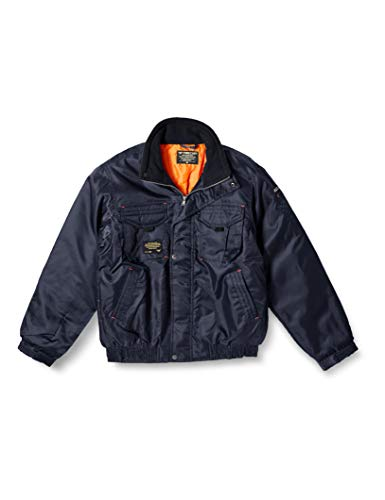 [フォーキャスト] 防寒着 作業着 ジャケット 中綿 Nextソルジャーブルゾン メンズ ネイビー LL