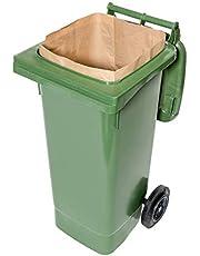 bioMat Composteerbare papieren zakken voor biotonnen, 1-laags, scheurvast en vochtbestendig