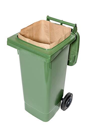120 Lt. kompostierbare Papiersäcke für Biotonnen, 1-lagig, reißfest & nassfest (25 Stk.)