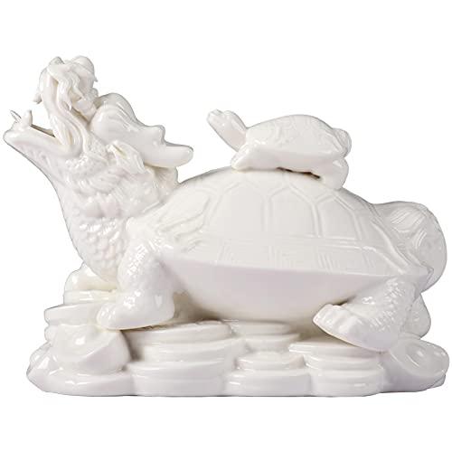 Smmile Escritorio Chino Moderno, decoración de cerámica de Tortuga líder, artesanía de Tortuga dragón, Armario de TV, Armario de Vino, decoración del hogar