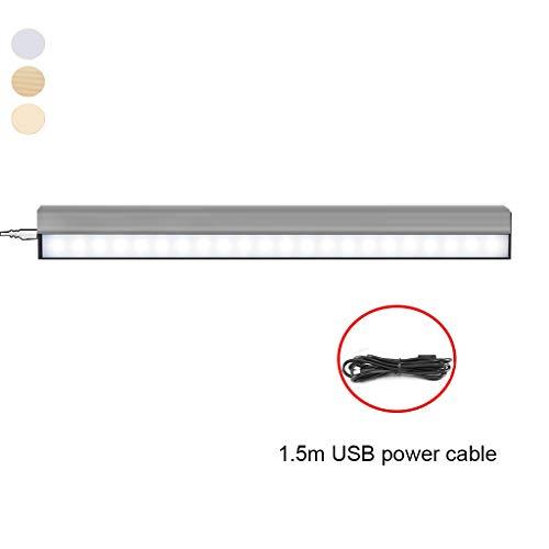 LED-spiegel, magnetisch, make-up spiegel met USB-display, 6000 K, wandlamp, waterdicht en beslaat niet.