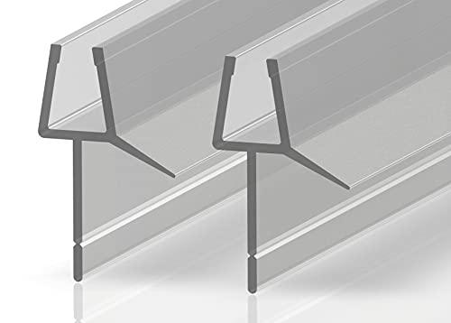 2 juntas de repuesto para repeler el agua y la ducha, ajustables, protección contra salpicaduras, para vidrio de 7-8 mm (1000 mm)