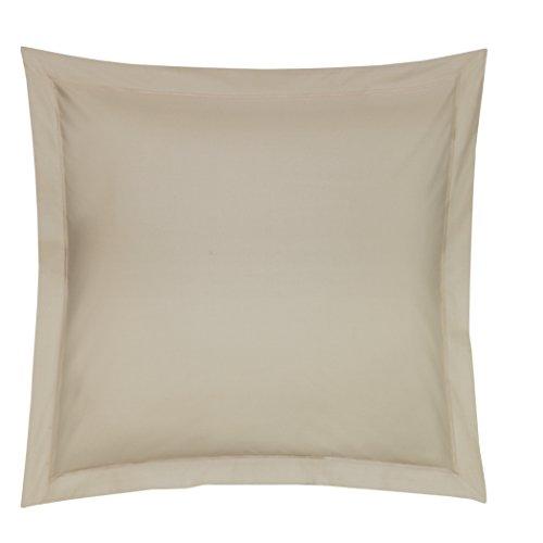 Blanc des Vosges Uni 57 Fils Taie, Coton, Ficelle, 65x65 cm