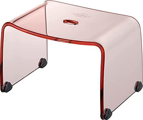 リス 風呂椅子 フランクタイム クリアピンク バスチェアー S 高さ 20cm
