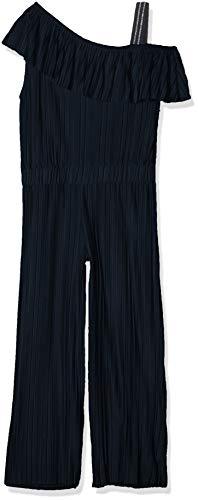 NAME IT Mädchen NKFHOSTA ANKEL SL JUMPSUIT Overall, Blau (Dark Sapphire), (Herstellergröße: 128)