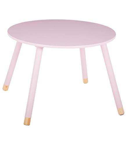 Runder Tisch aus Holz für Kinder – Farbe ROSA