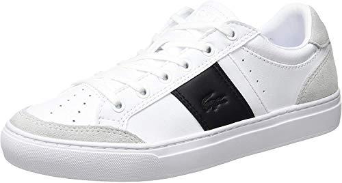 Lacoste Courtline 319 1 Us CMA, Zapatillas Hombre, Blanco (White/Black 147), 42 EU