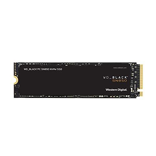 WD BLACK SN850 500 GB NVMe SSD Internal Gaming, Tecnologia PCIe Gen4, velocità di lettura fino a 7.000 MB/s, M.2 2280, 3D NAND