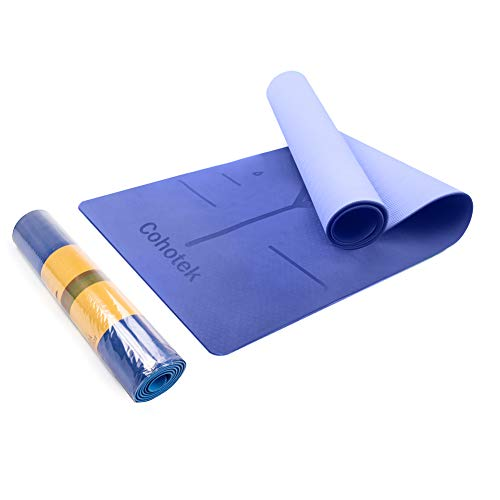 "Cohotek [TPE Eco Friendly Yoga Mat] Non Slip Yoga Mat, 72""X24""X1/4"