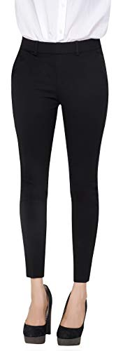 Marycrafts Women s Pull On Stretch Yoga Dress Business Work Pants 12 Black