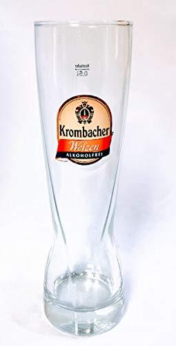 Krombacher 0,5l Glas/Weizen/Alkoholfrei/Bierglas/Gläser/Bier/Biergläser/Gastro/Bar/Sammler