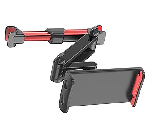 HANYEAL Soporte universal para reposacabezas de coche, extensible, compatible con teléfonos móviles de 4,7 a 12,9 pulgadas, extensible, color rojo