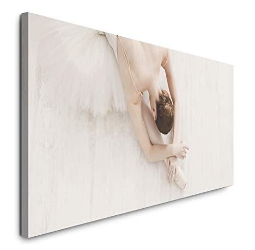 Paul Sinus Art GmbH Ballerina 120x 50cm Panorama Leinwand Bild XXL Format Wandbilder Wohnzimmer Wohnung Deko Kunstdrucke