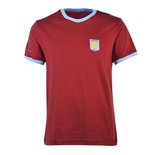 Aston Villa Mens Ringer Crew Neck T Shirt