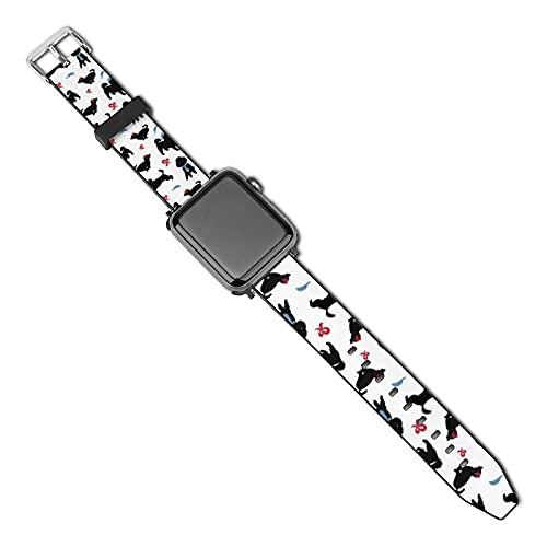 La última correa de reloj de estilo compatible con Apple Watch Band 38 mm 40 mm Correa de repuesto para iWatch Series 5/4/3/2/1, color blanco Happy Poodle Decor Stock