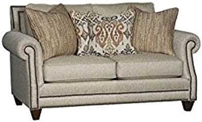 Amazon Com Simmons Upholstery Outback Sofa Chocolate Kitchen Dining