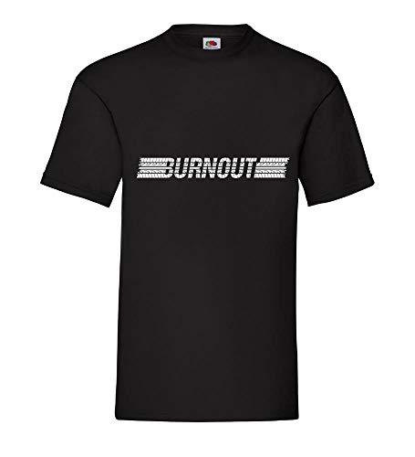 Reifen Burnout Männer T-Shirt Schwarz 3XL - shirt84.de