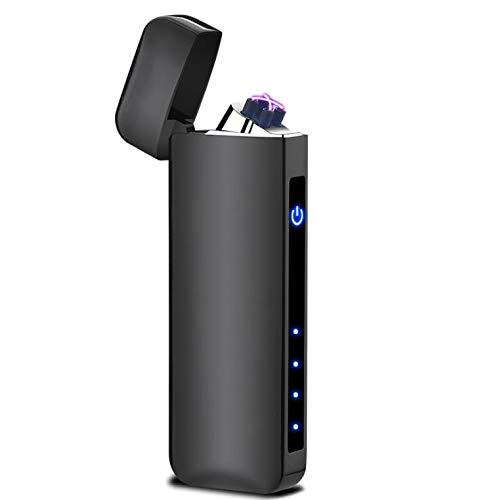 Saibit - Mechero eléctrico electrónico de doble arco a prueba de viento, sin llama con USB recargable para cigarrillos, velas, cocina casera, barbacoa y estufa de camping