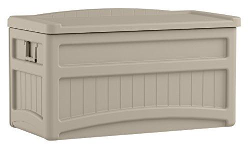 Suncast 73-Gallon Medium Deck Box - Lightweight Resin Indoor/Outdoor Storage Container and...
