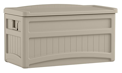 Suncast 73-Gallon Medium Deck Box - Lightweight Resin Indoor/Outdoor Storage Container and...