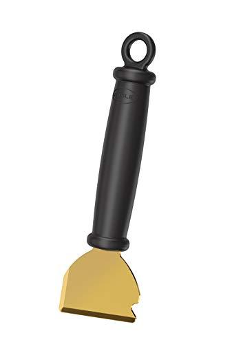 RÖSLE Universalschaber Scrap X, Hochwertiger Grillschaber mit zweiseitiger Messingklinge, Reinigung Brennkammer und Glasscheibe