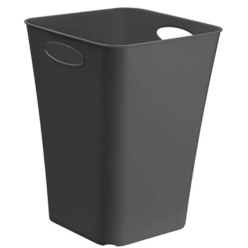 Rotho Living quadratische Aufbewahrungsbox 23l, Kunststoff (PP) BPA-frei, anthrazit, 23l (29,5 x 29,5 x 39,5 cm)