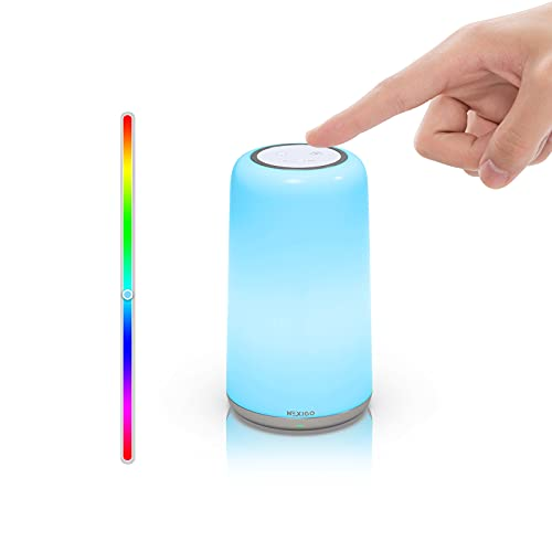 RGBW Portable Bedside Lamp, NexiGo Touch Nursery Night Lights for Kids and Babies, Dimmable...