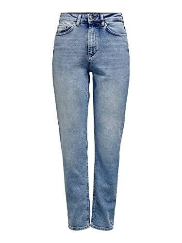 Only Onlveneda Life Mom Jeans Rea7452 Vaqueros, Mezclilla Azul Claro, 31W / 32L para Mujer