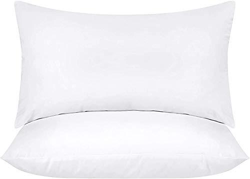 Utopia Bedding Set di 2 Cuscini - 30 x 50 cm Imbottitura per Cuscini - Tessuto Misto Cotone Cuscini Divano - Cuscino Interno (Bianco)