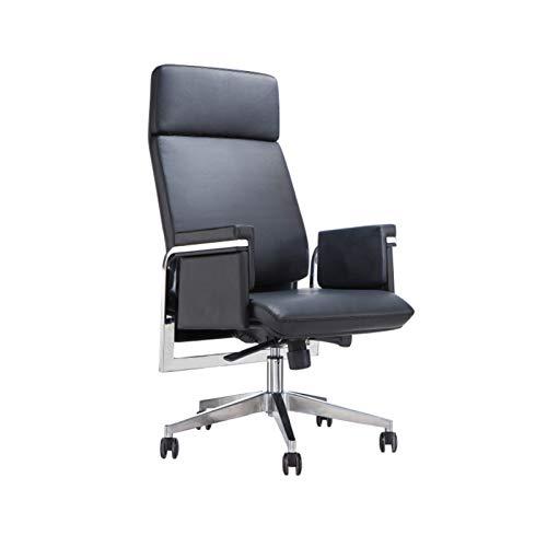 DJDLLZY Sedie manageriali sedie esecutive con Schienale Alto, direzionale in Pelle, Girevole, Regolabile Scrivania Sedia con rotelle, Nere