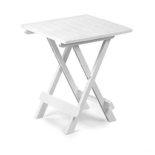 Mojawo campingtafel klaptafel tuintafel camping bijzettafel reistafel kunststof in wit 44 x 44 x 50 cm