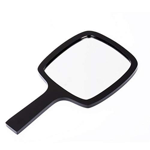 LASISZ Mini Miroir Forme Carrée Fille Mini Double Côtés Miroir Portable Poche Maquillage Miroirs Cosmétiques Double Face, Miroir Noir