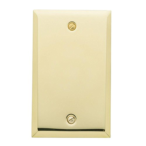 Baldwin 4750.030.CD Classic Square Beveled Edge Single Box Cover, Polished Brass - Lacquered