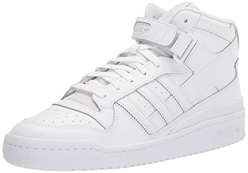 adidas Originals Men's Forum Mid Sneaker, White/White/White, 10