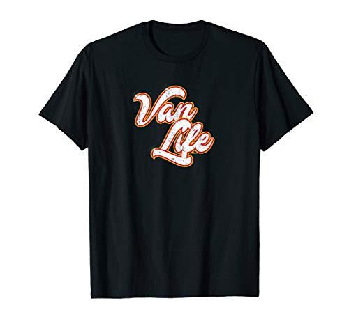 Van Life Vannin' Retro Classic Distressed Design T-Shirt