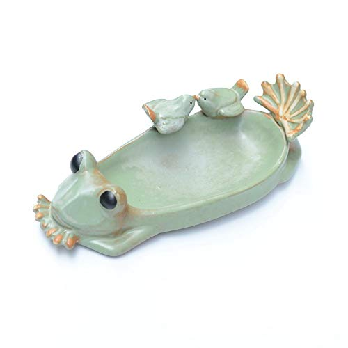 KUAQI Estilo Pastoral Rana suculenta Maceta Paloma artesanía de cerámica Color Esmalte Maceta de cerámica