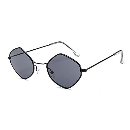 YUANBOO Gafas de Sol Mujer diseñador Espejo Claro Lente Lente Gafas de Sol Señoras Vintage Marco de aleación Sombras Gafas Apparel Accesorios (Lenses Color : C6Black)