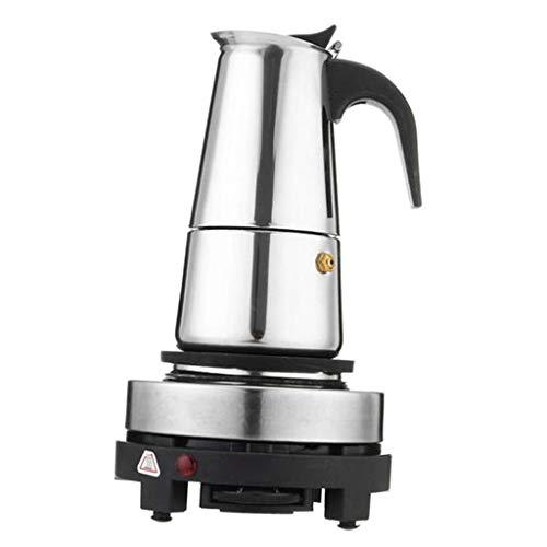 Cafetera Espresso Moka para Cocina de Acero Inoxidable, 4 Tazas o ...