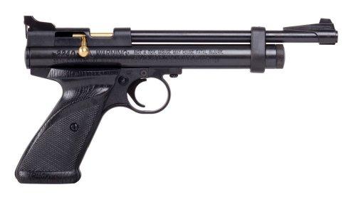 Crosman 2240 Bolt Action CO2 Pellet Pistol (0.22), Black